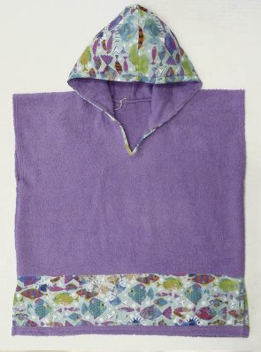 kids beach poncho cotton cod.pnk72